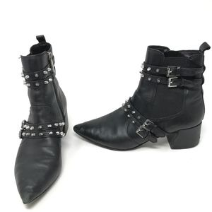 Kendall + Kylie Rad4 Studded Leather Studded Boots